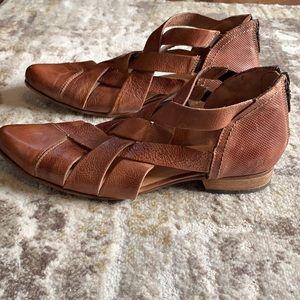 Bed Stu Woven Bootie Sandal Tan Size 8.5